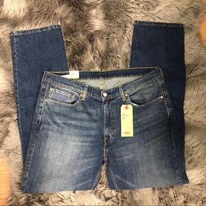 Levi's   Men's Straight Fit Jeans   Medium Wash